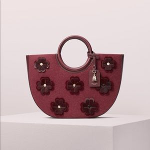 NWT Kate Spade Cherrywood On Purpose Circle Bag